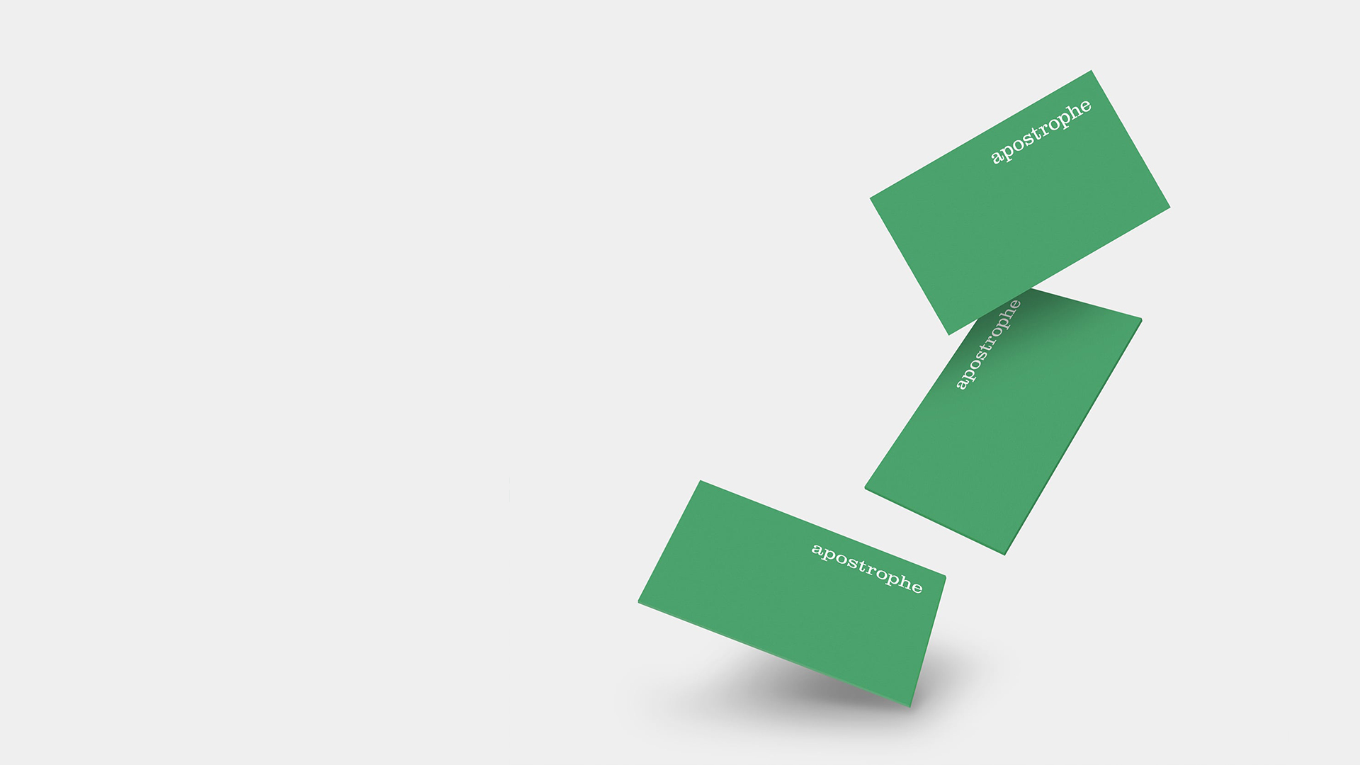 Apostrophe business card design