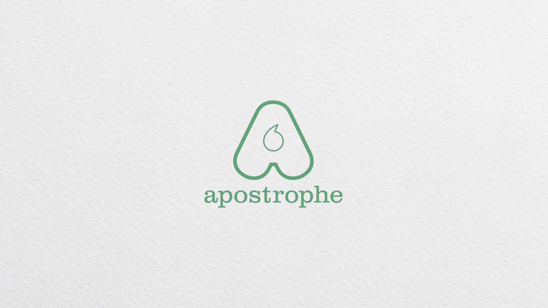 apostrophe logo design