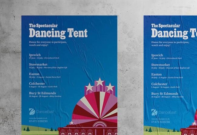 DanceEast Festival Branding