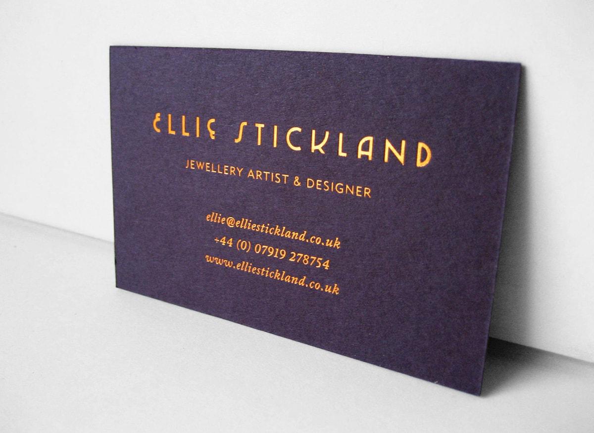 foil business card design