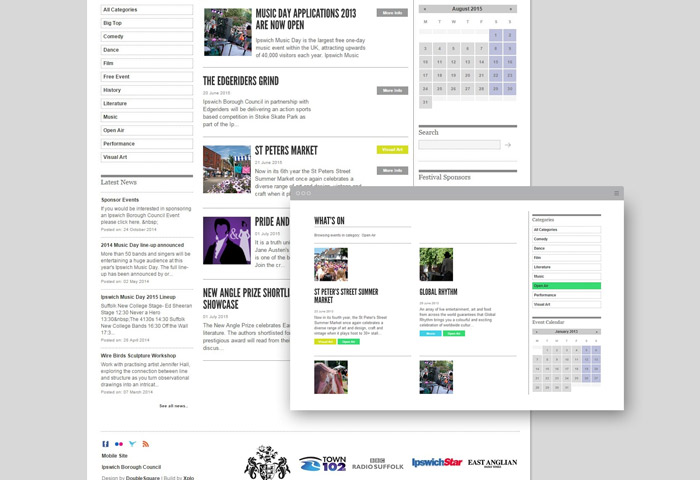 festival website design