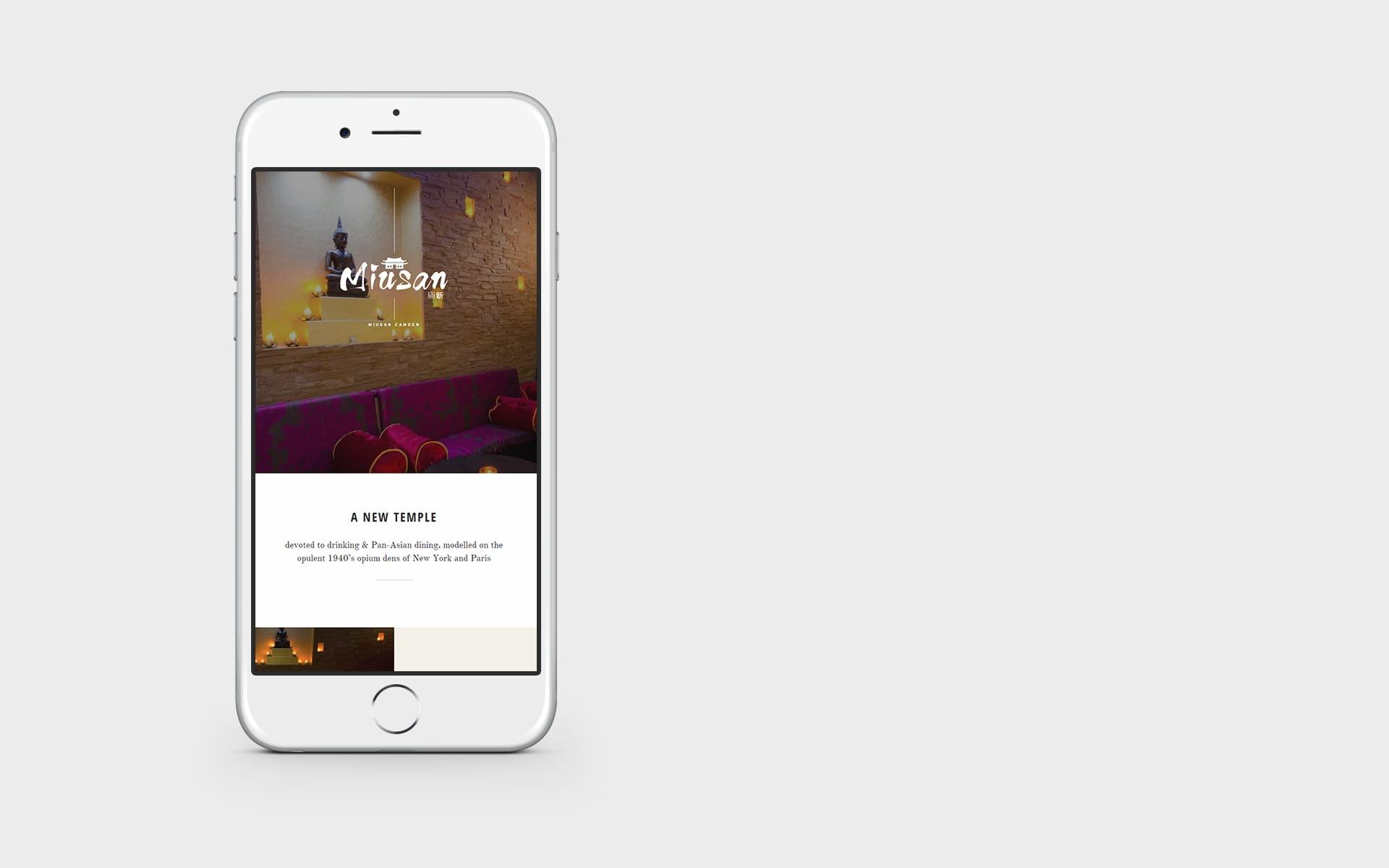 miusan mobile website design