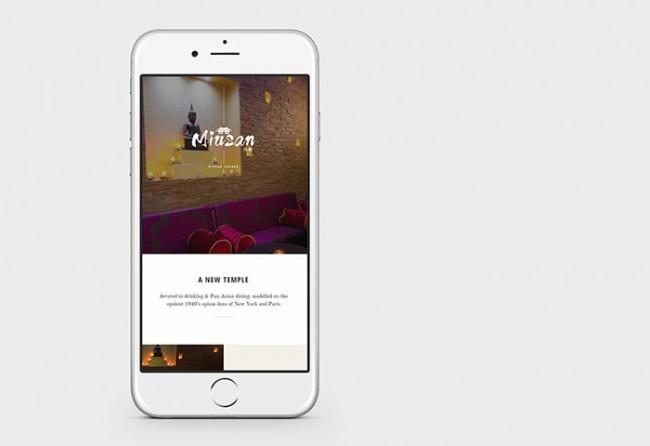 miusan website design