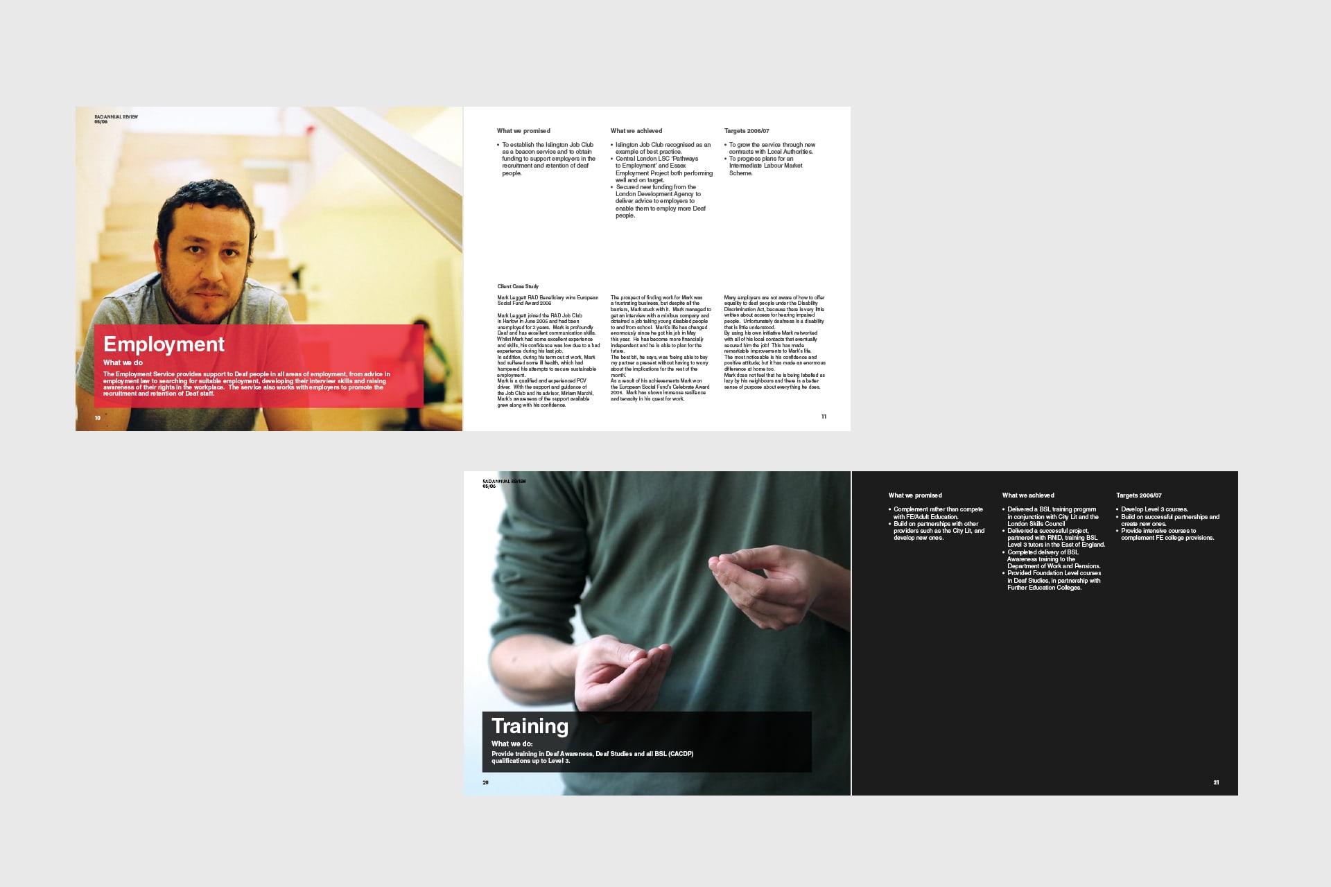 annual report spread design