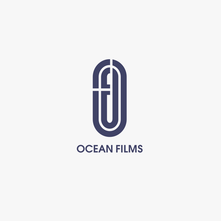 ocean films logo design