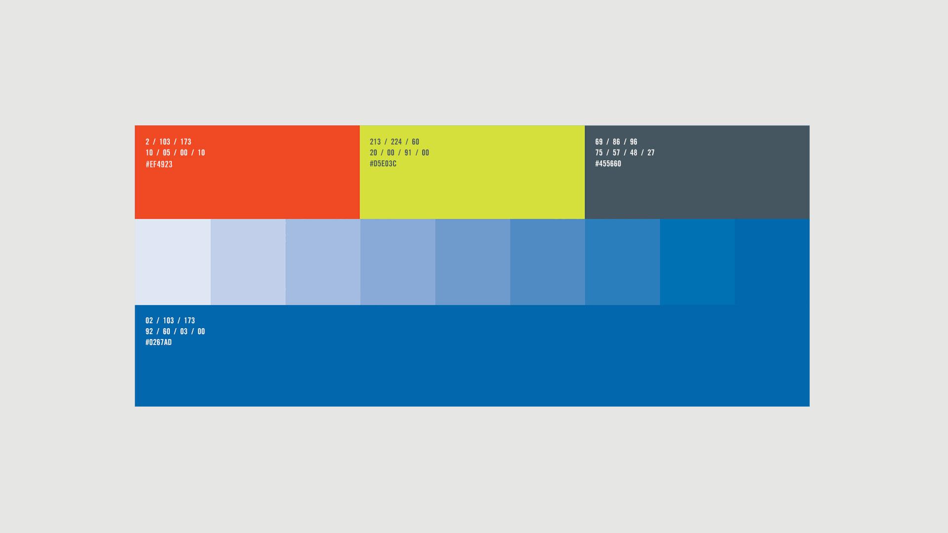 software brand colour palette