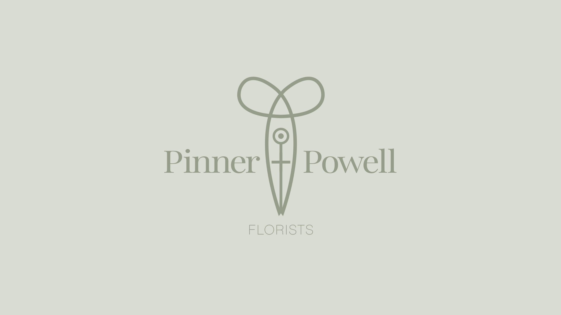 Pinner + Powell Florist logo design