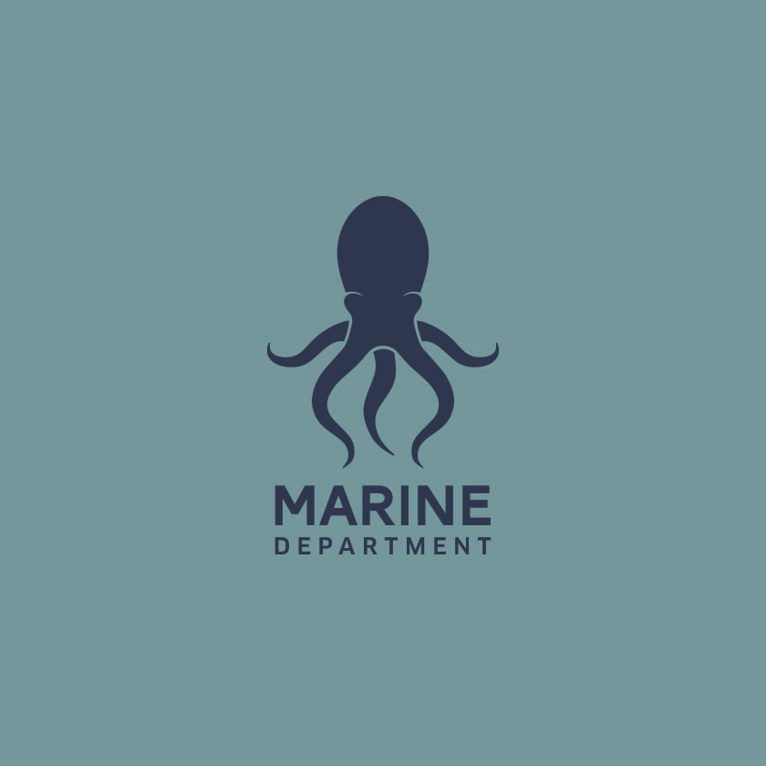 marine films logo design