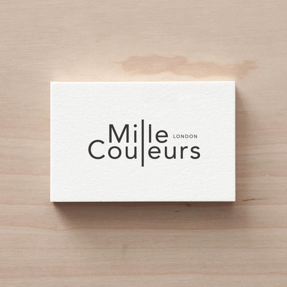 Black foil on white business card design