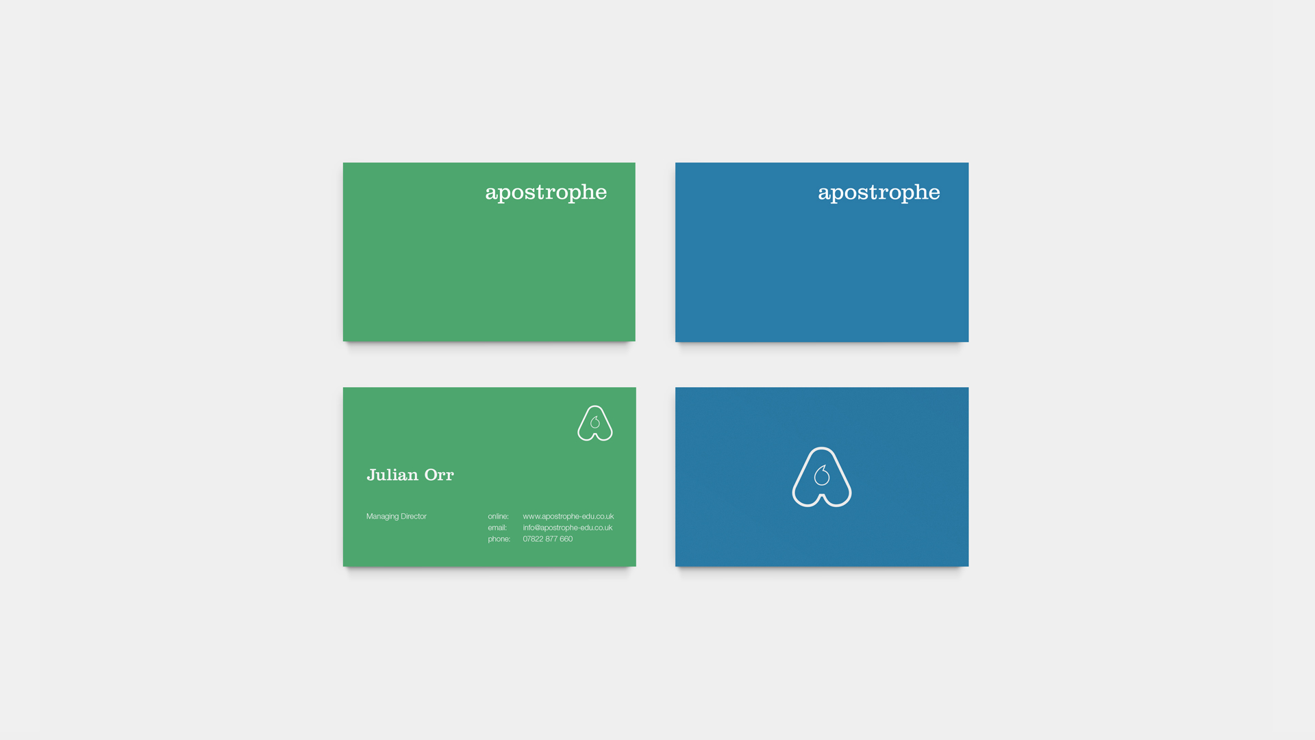 Apostrophe business card design