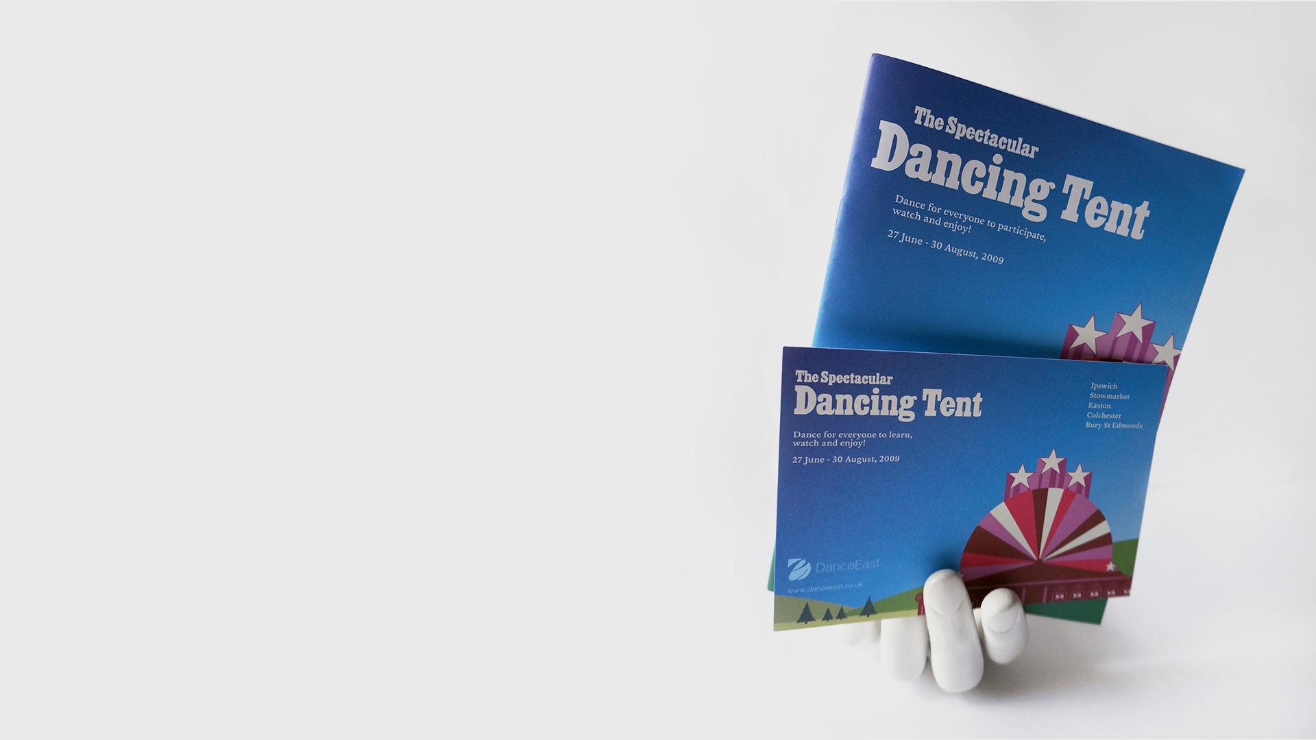 DanceEast Festival Branding postcard booklet