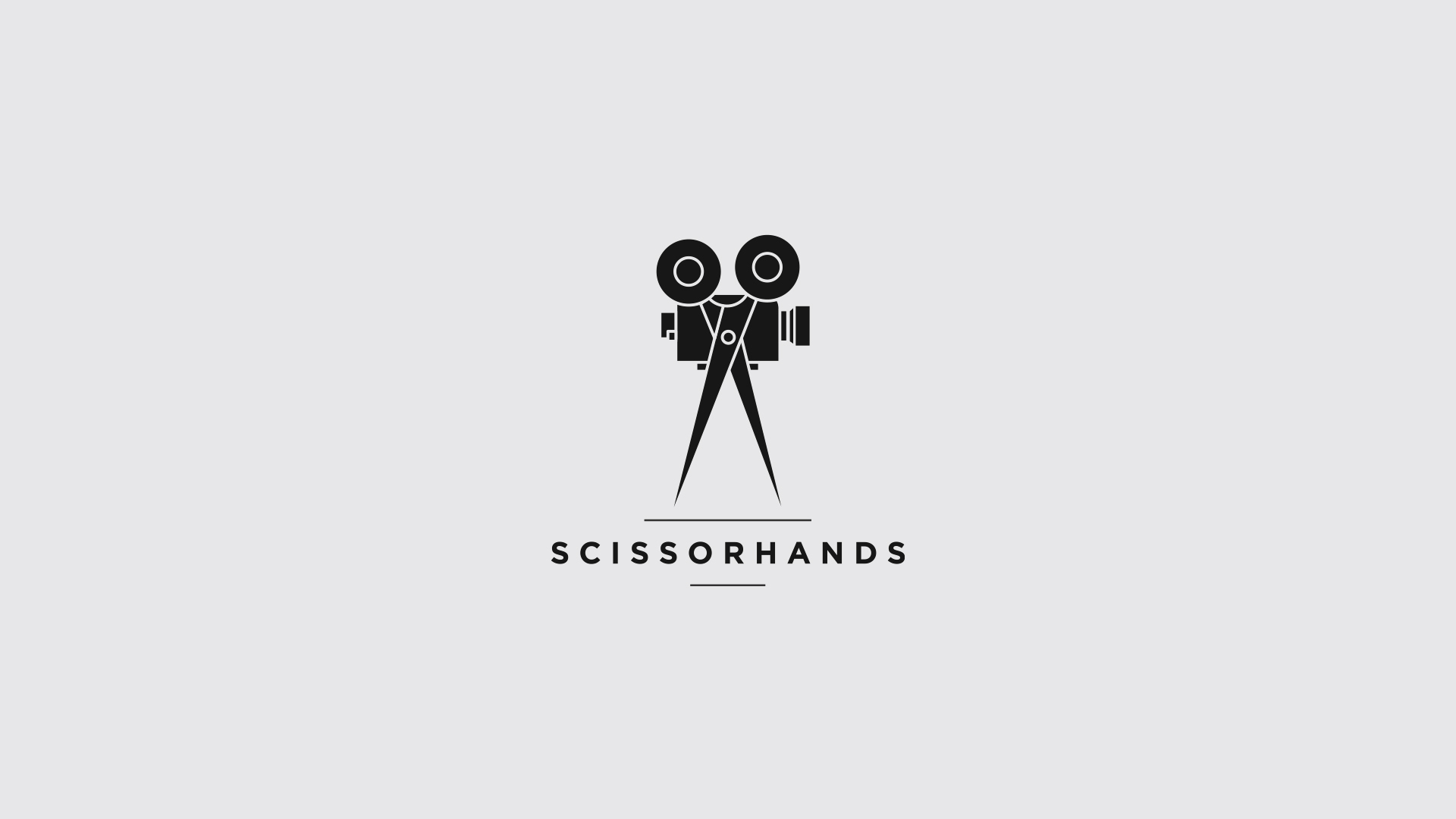scissorhands logo design