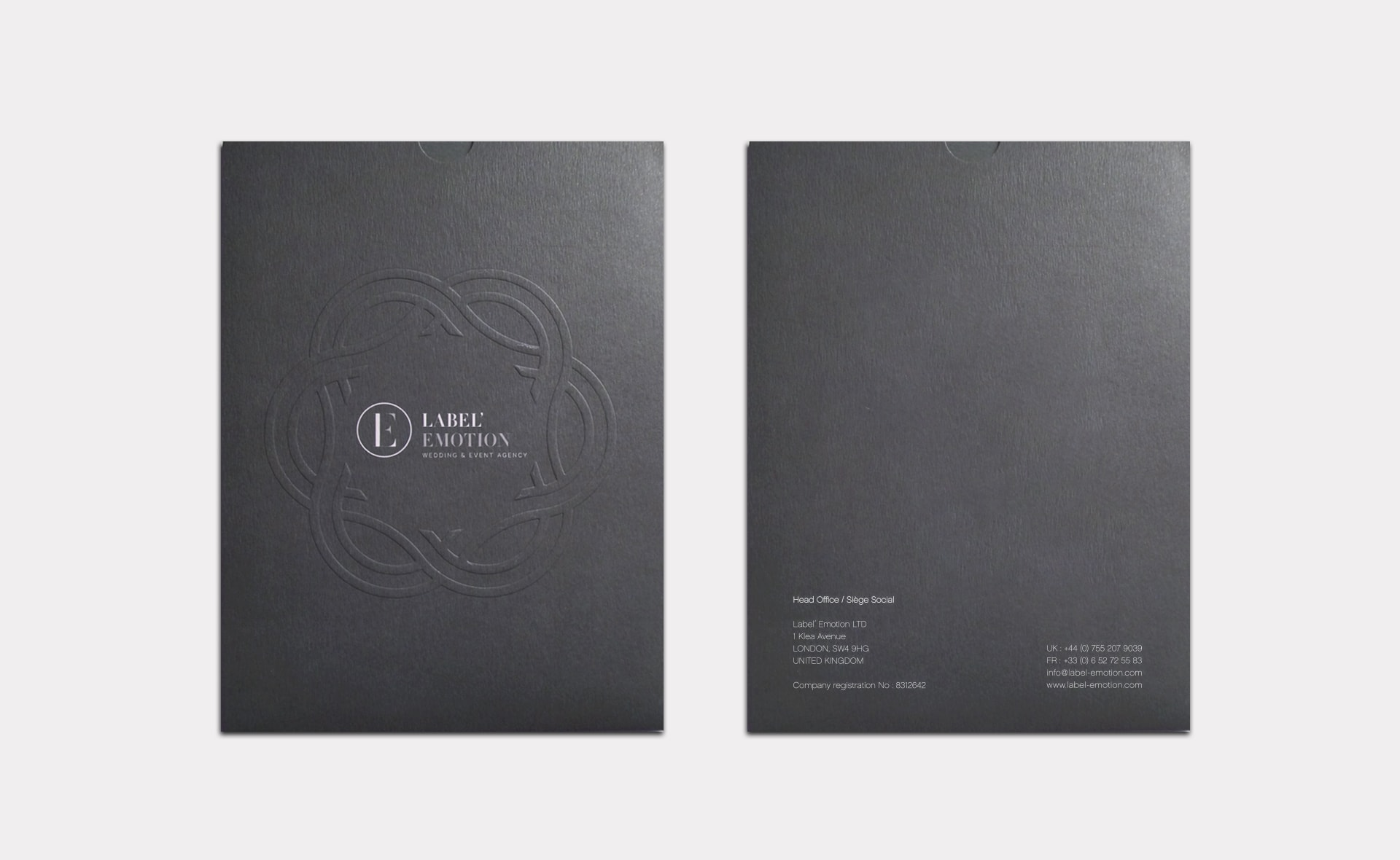 emboss folder design
