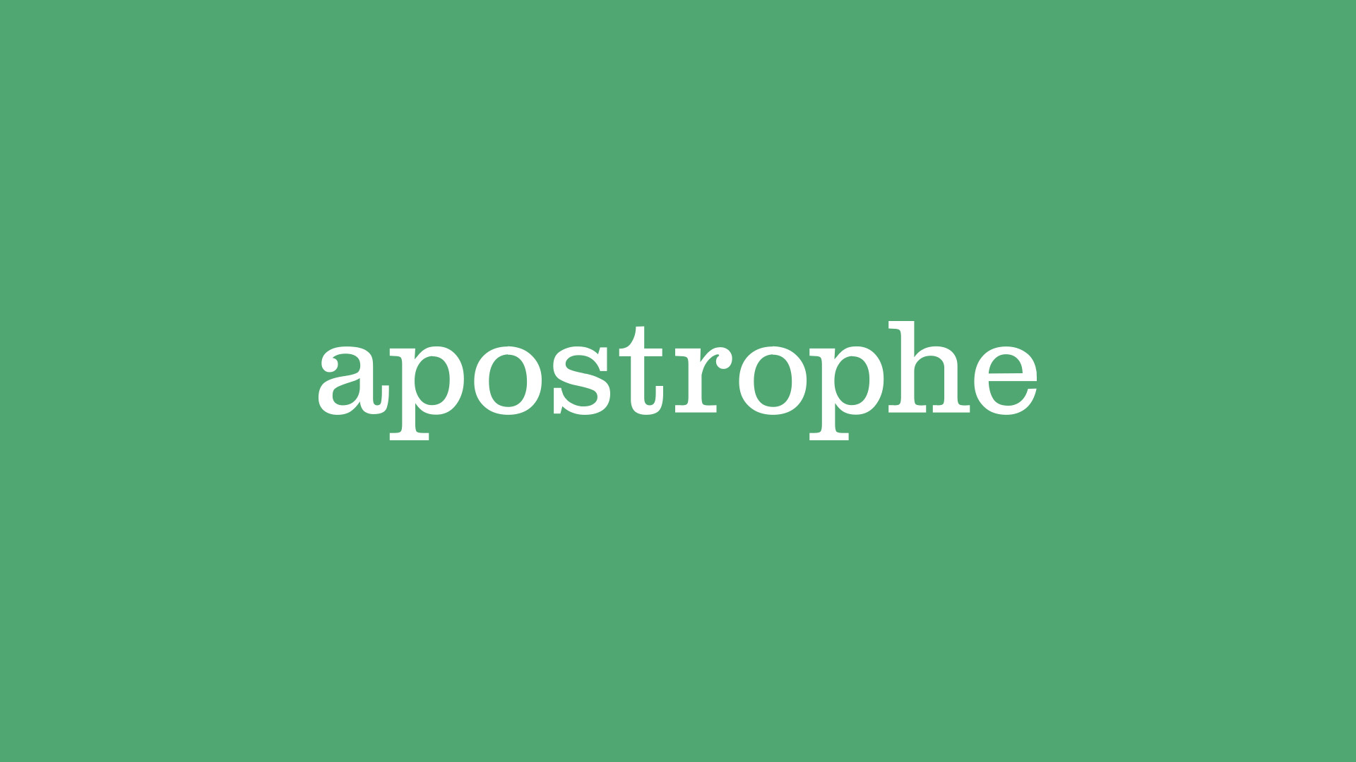 apostrophe wordmark design