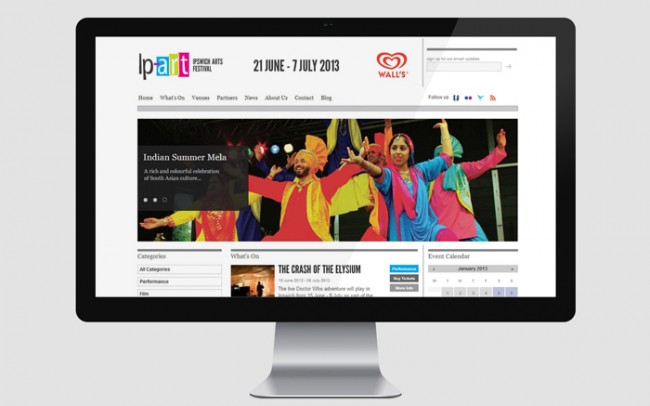 website design for arts festival