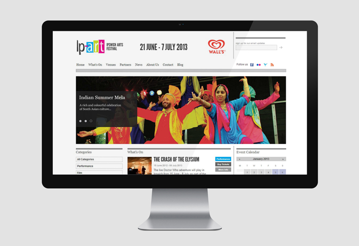 website design for arts festival