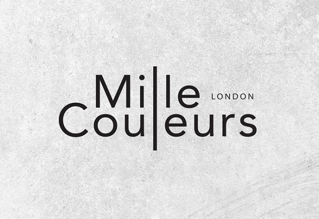Logo and Identity design for Mille couleurs London