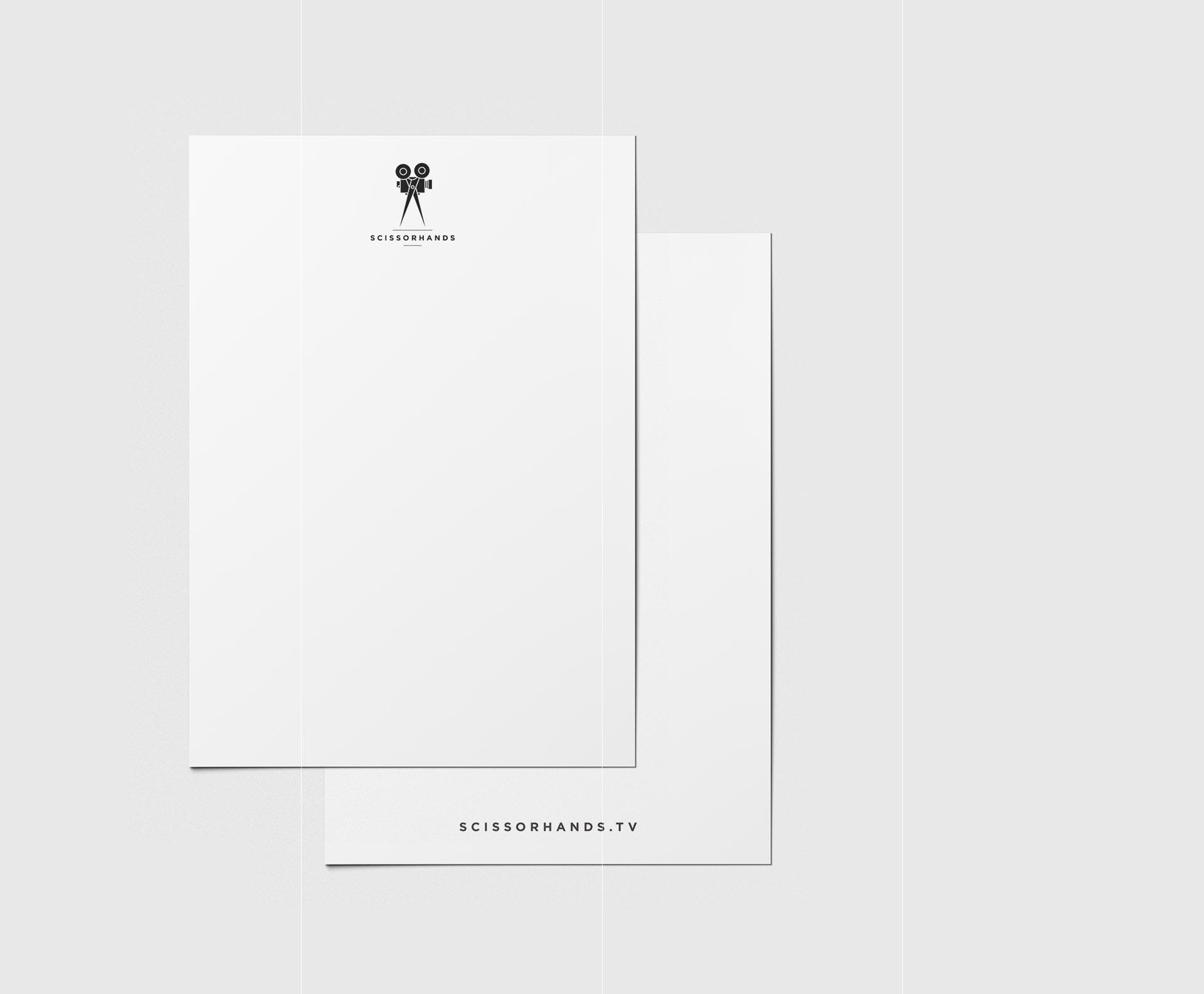 Scissorhands letterhead design