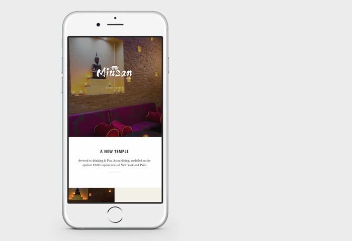 miusan website design