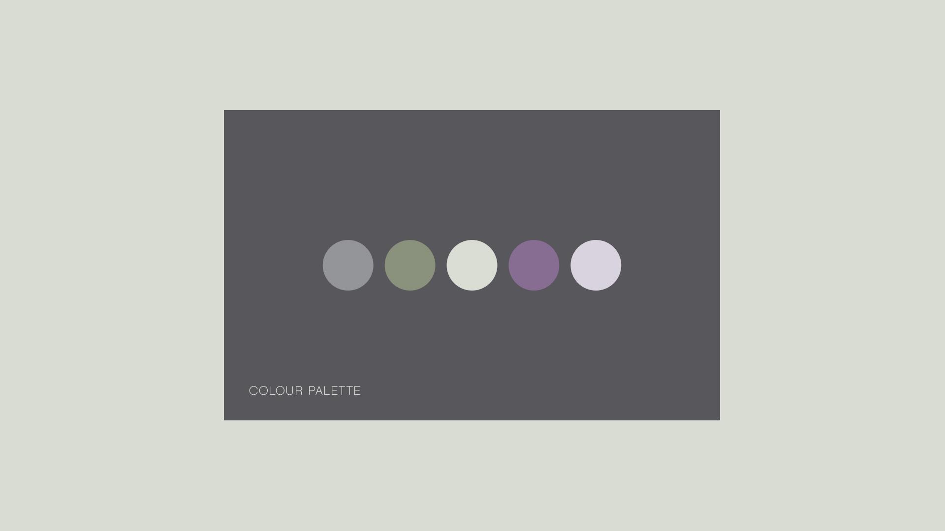 Brand identity colour palette
