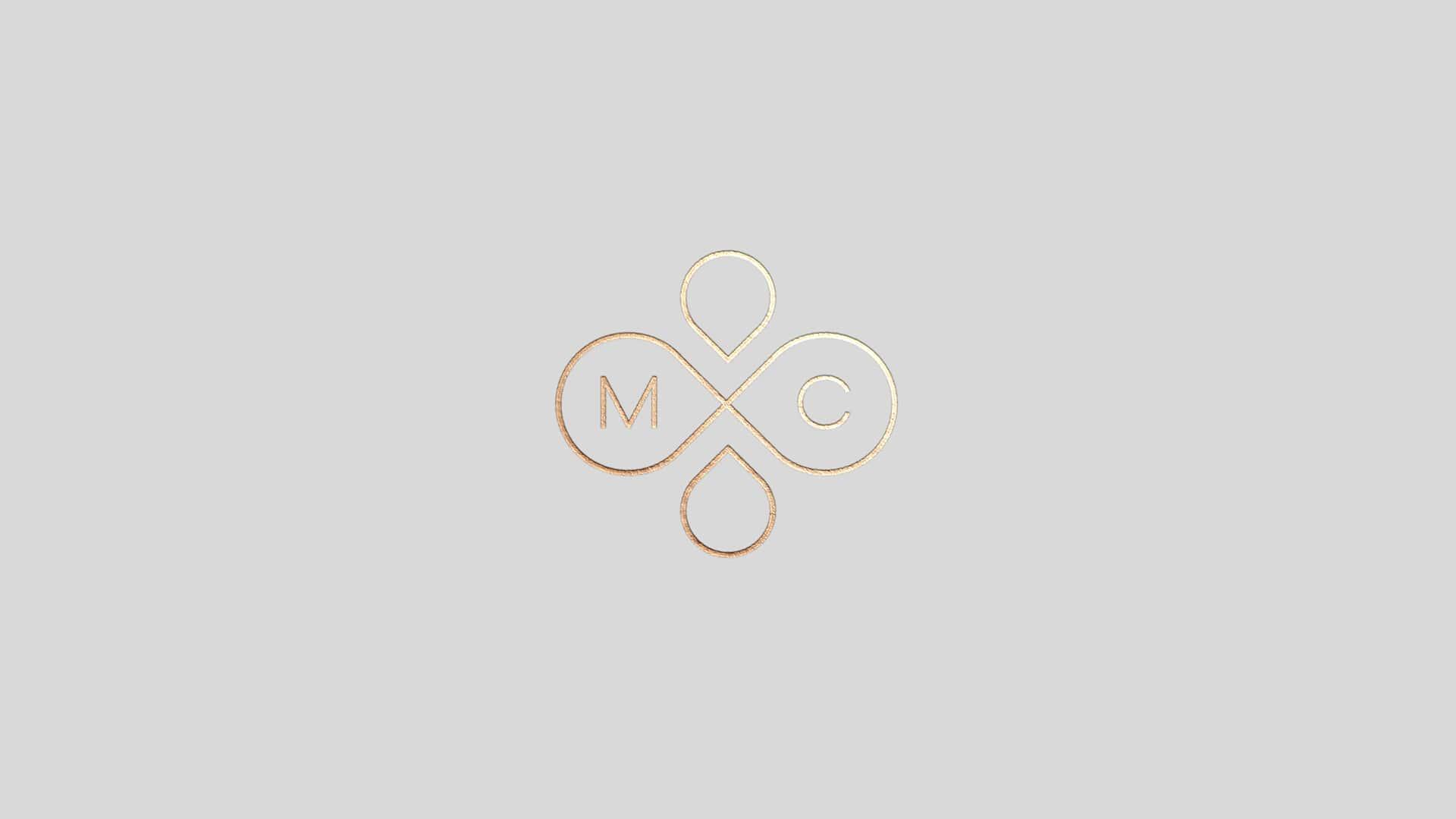 gold foil logo symbol design