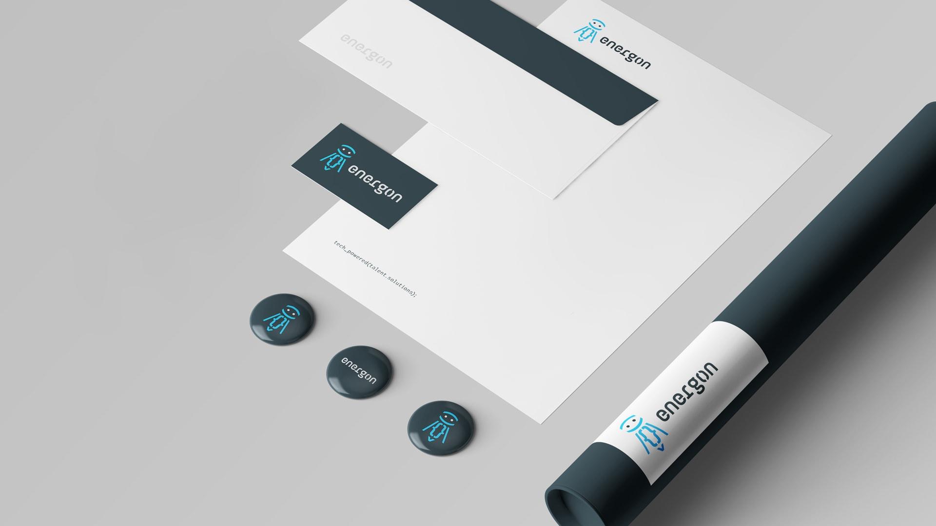 Energon re-brand - stationery design
