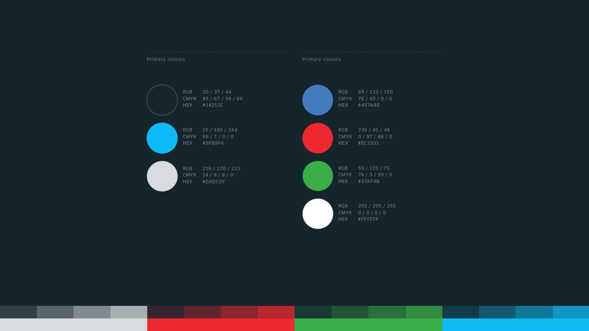 brand design - colour palette
