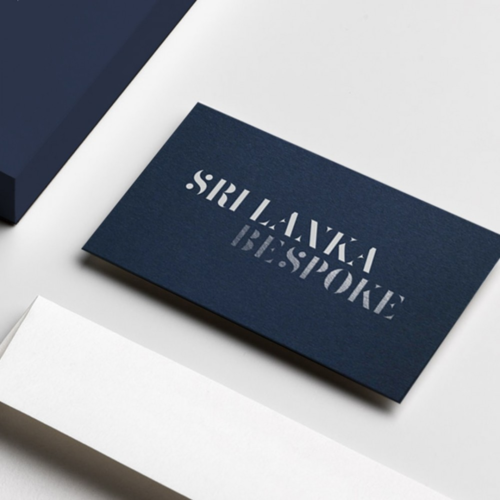 Foil printed business card