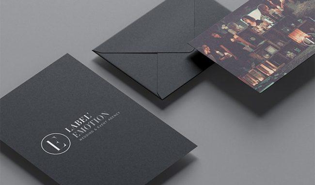 wedding agency branding print